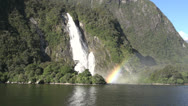 Stock Video Footage of Lady Bowen Falls, Milford Sound