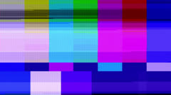 Color Bars Data Glitches (30fps) - stock footage