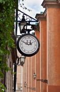 old street clock - stock photo