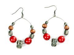 pair of beautiful earrings - stock photo