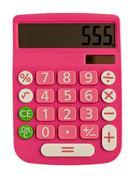Glamorous pink calculator Stock Photos