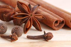 Cinnamon and anise Stock Photos