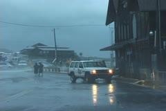Hurricane wind & rain Stock Footage