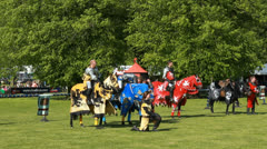 The Knights of Middle England presentation (10) slow motion Stock Footage