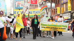 Veggie Pride Parade Stock Footage