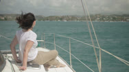 Stock Video Footage of Enjoying the sailing in the Caribbean 10