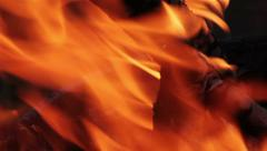 Fire Detail Close Up Stock Footage