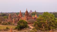 Stock Photo of Pagodas hidden in the vegetation