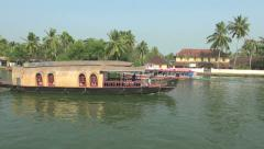 Kerala backwaters houseboat s2 2 Stock Footage
