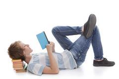 Stock Photo of kid reading book