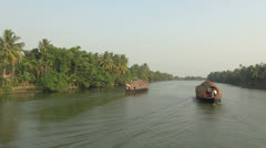 Kerala backwaters scene s. Stock Footage