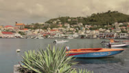 Stock Video Footage of Small fishing boats in the Carenage St. George's