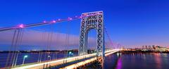 george washington bridge panorama - stock photo