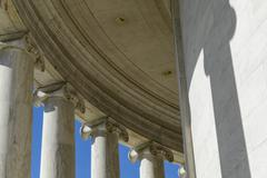 columns of jefferson memorial - stock photo