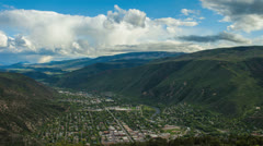 Landscape view of Glenwood Springs Stock Footage