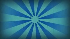 Sunburst Vintage Blue Stock Footage