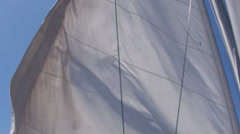Sails waving in the wind - stock footage