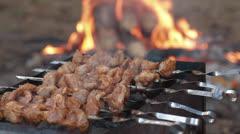 Kebab prepares Stock Footage