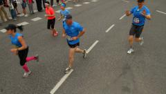 Runners in Stockholm Marathon Stock Footage