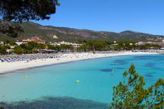 beautiful palma nova beach in mallorca balearic islands - stock photo