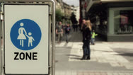 Pedestrian zone in the city Stock Footage