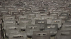 Empty Chairs for Mass in St Peters Square in Vatican; Rome Stock Footage