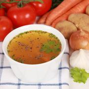 ingredients for a broth - stock photo