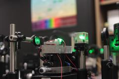 laser optycal system - stock photo