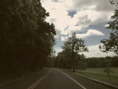 Driving POV on Country Road Upstate New York Stock Video Stock Footage