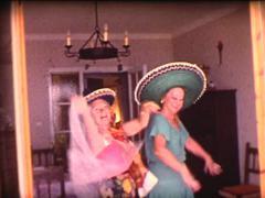 8mm grandmothers latin dance 1 Stock Footage