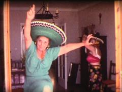 8mm grandmothers latin dance 2 - stock footage