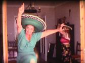 8mm grandmothers latin dance 2 Stock Footage