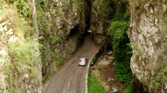 Canyon Street - SP38 at lake garda in Italy Stock Footage