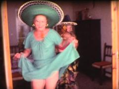 8MM grandmothers latin dance 5 Stock Footage