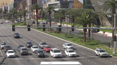 Busy street and luxury shops by day, Las Vegas Strip, Las Vegas, Nevada, USA, Stock Footage