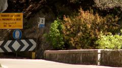 Street SP38 at lake garda in Italy Stock Footage