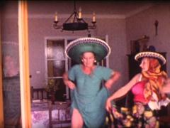 8mm grandmothers latin dance 8 Stock Footage