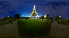 Eiffel Tower stars, 360 video panorama HD Stock Footage