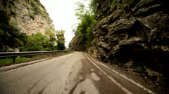 POV – Car in Canyon Road Stock Footage