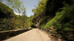 Driving in Mountains – POV Stock Footage