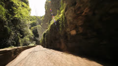 Driving in Canyon – POV Stock Footage
