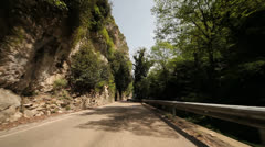 POV on Mountain Road Stock Footage