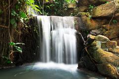 cascade water. - stock photo