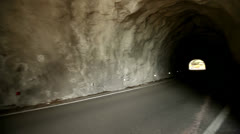 Tunnel – Road in mountains Stock Footage