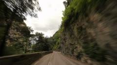 Timelapse POV on Mountain Road Stock Footage