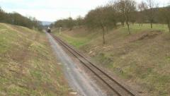 GWR Train at the Gloucester & Warwickshire Railway - stock footage