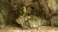 Virgin Mother in a valley, brasa, italy Stock Footage