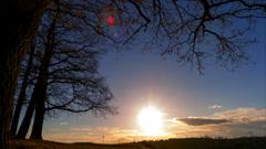 Taymlaps sunset Stock Footage