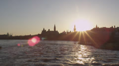 Parliament of Canada lens flare Stock Footage