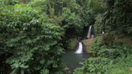 Stock Video Footage of The Seven Sisters Waterfall in Grenada in the Caribbean.